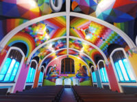 Okuda dipinge l'International Church of Cannabis