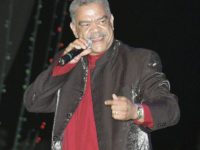 during his tribute to Byron Lee on the final night of Air Jamaica Jazz and Blues Festival 2006 at Cinnamon Hill, Montego Bay. Pluto performs at Stars R Us tomorrow night. *** Local Caption *** FilePluto Shervington