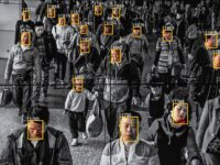Monitors display a video showing facial recognition software in use at the headquarters of the artificial intelligence company Megvii, in Beijing, May 10, 2018. Beijing is putting billions of dollars behind facial recognition and other technologies to track and control its citizens. (Gilles Sabrié/The New York Times)